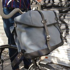 Brompton bags in asphalt made by Barbara Rico