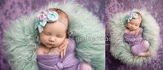 Sea of Orchids orchid and mint sea green by babybirdieboutique, $14.50