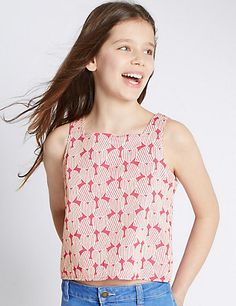 Pure Cotton Heart Print Top (5-14 Years)