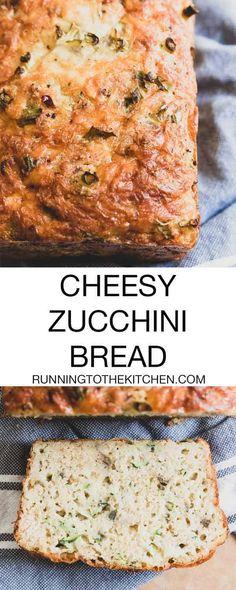 A delicious cheesy zucchini bread recipe perfect for summer. Zucchini Cheesy Bread, Zucchini Cheese, Zucchini Bread Recipes, Cheese Bread, Brunch Recipes, Breakfast Recipes, Brunch Dishes, Yankee Recipe, Roasted Tomato Sauce
