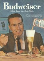 Budweiser Beer, Rare Steak 1959 Ad Picture