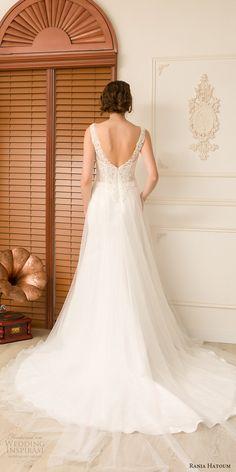 rania hatoum spring 2018 bridal sleeveless vneck beaded lace bodice a line wedding dress (zoella) bv scoop back long train romantic elegant -- Rania Hatoum Spring 2018 Wedding Dresses