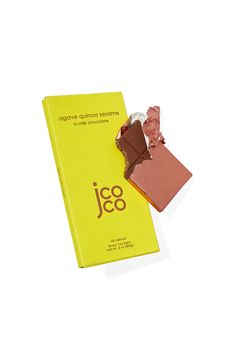 The O staff is adding more of this protein-rich, ancient seed to our diets thanks to Jcoco's sublime Agave Quinoa Sesame in Milk Chocolate bar, which is studded with crispy puffs of quinoa and sprinkled with sea salt.