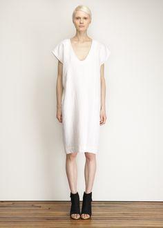 Totokaelo - Horses Atelier White Front Seam Dress