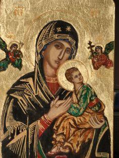 Znalezione obrazy dla zapytania matka boża nieustającej pomocy ikona