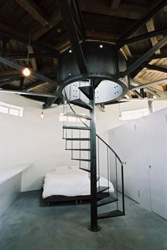Water tower renovated into an apartment