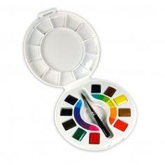 SCATOLINA 10 COLORI ACQUARELLI VENEZIA MAIMERI   Colori acquerello extrafini  10 colori + 1 pennello