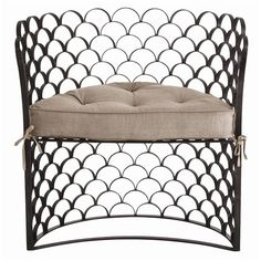 So lovely!    Vero Iron and Linen chair.