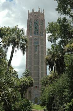 Bok Tower, built in the 1920's. Gothic/Art Deco style. 60 Bells carillon, surrounded by the beautiful Bok Gardens, Florida