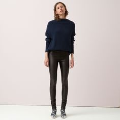 FWSS Oblivion are skinny tights in soft and stretchy lambs leather with comfortable jersey backing. Zipper detail at the bottom of the legs and zipper closure at the side. Leather Tights, Fall Winter Spring Summer, Oblivion, Lambs, Winter Season, Minimalist Design, Black Leather, Normcore, Closure