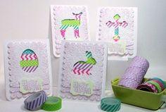FREE SVG PDF SCUT Easter cards washi tape