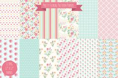 Pretty Floral Digital Papers by MelsBrushes on Creative Market