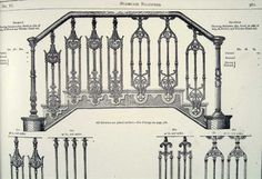 Coalbrookdale Cast Iron Staircase Balustrade from Coalbrookdale Company Catalogue 1875.