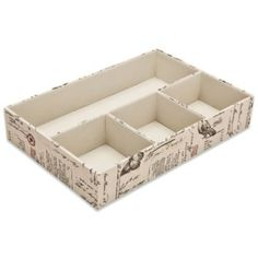 These Compartment Drawer Organizers in Passport Print can be purchased at http://www.bedbathandbeyond.com/store/product/compartment-drawer-organizers-in-passport-print/213390?Keyword=drawer+organizer and range in price from $9.99 to $12.99. Great for storing cell phones, wallet, keys and more.  Can too be used for makeup storage and office supplies storage!