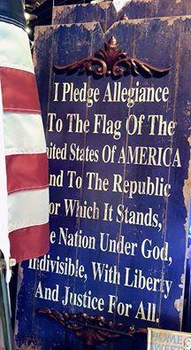 The Pledge Of Allegiance...