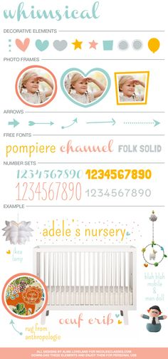 FREE vector style board elements: Whimsical! for @nicolesclasses