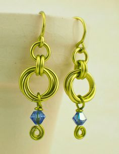 #earring #chainmaille 18 or 20 or 22 gauge Peridot Jump Rings - YOU PICK Size - Quantity 100 | Unkamen Supplies