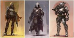 Bungie released Destiny Character Development Video and Concept Arts. Bungie Destiny, Destiny Xbox, Destiny Hunter, Game Concept Art, Character Concept, Character Art, Character Design, Character Inspiration, Video Game Xbox