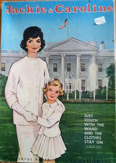 Jackie and Caroline Kennedy paper dolls. I bought a set of these for my friend when we were kids. In a week it was shredded. I almost cried.