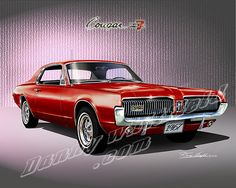 1967 MERUCRY COUGAR XR-7 (Cardial Red)