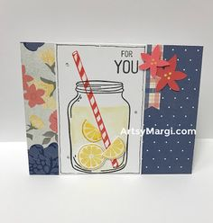 CTMH May Stamp of the Month, A Classic Summer Bash, cards, paper crafting, stamping, diy, Lemonade, Canning Jar, CTMH Beautiful Friendship, Close To My Heart, ArtsyMargi
