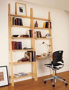 beautiful wood shelves and desk room u0026 board