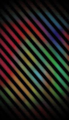 Neon Lights Striped Wallpaper