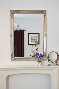EXTRA LARGE FRENCH SILVER Overmantle Wall MIRROR Complete With Premium Quality Pilkingtons Glass