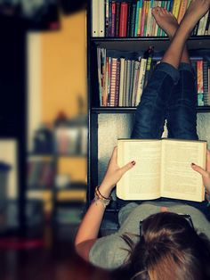I've read an entire book, in this position, without moving until I finished.