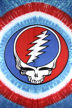 Grateful Dead Tie Dye Steal Your Face Tapestry