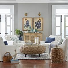 When it comes to the layout of your coastal living room, it will depend on what pieces of furniture you have – but how do you choose what living room furniture to add, whether you're refreshing your living room design… Continue Reading → Coastal Living Rooms, Formal Living Rooms, Home Living Room, Living Room Designs, Coastal Cottage, Coastal Style, Modern Coastal, Coastal Homes, Beach Living Room
