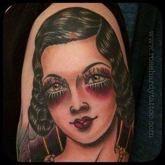 Tattoo by Rose Hardy Rose Hardy, Rose Tattoos, Tattoo Inspiration, Halloween Face Makeup, Instagram Posts, Artist, Artists, Pink Tattoos