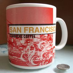 rare Starbucks 'City Series' Coffee Mug, 1999 - San Francisco | 20oz