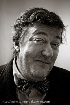 Stephen Fry - English actor, screenwriter, author, playwright, journalist, poet, comedian, television presenter, film director, and a director of Norwich City Football Club.