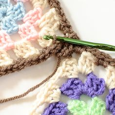 Granny Squares. Método para unirlos tejiendo...  tutorial fotos. #crochet