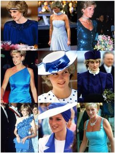 Princess Diana in Blue.
