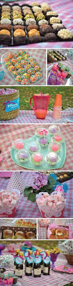 faça voce mesmo: Decoração - picnic de aniversário - comida