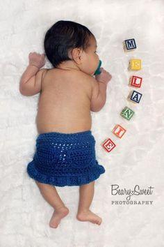 Faux Denim Ruffle Skirt - via @Craftsy