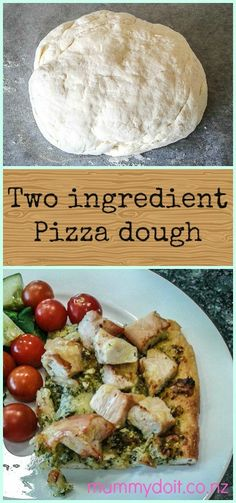 Two ingredient pizza dough - Mummy do it