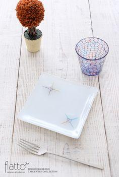 イロサシ角皿(15cm角)/作家「吉村桂子」/和食器通販セレクトショップ「flatto」