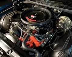 Chevy LS-6 454 with cowl induction air cleaner