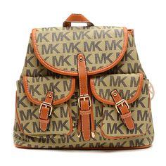 29e60bb2aa44 Wholesale Michael Kors handbags outlet Online for sale - Off Michael Kors  Jet Set Signature PVC Large Beige Backpack -
