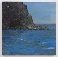 "artforum.com / critics' picks  Paul Thek, Untitled (figures by rocks, water), ca. 1975, oil on canvas, 19 1/2 x 19 1/2"""