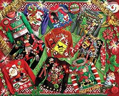 Ugly Christmas Sweaters Jigsaw Puzzle, Christmas - Fun & Other: Vermont Christmas Company New Puzzle, Puzzle 1000, Jumble Puzzle, Puzzle Toys, Ugly Sweater, Ugly Christmas Sweater, Cozy Christmas, Christmas Jigsaw Puzzles, How To Purl Knit