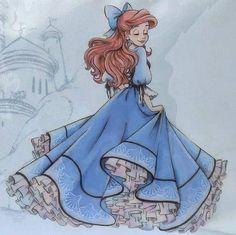 Princess Ariel Disney the little mermaid Ariel Disney, Disney Little Mermaids, Ariel The Little Mermaid, Cute Disney, Little Mermaid Drawings, Walt Disney, Disney Magic, Disney Princess Drawings, Disney Princess Dresses