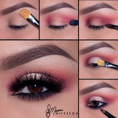 Motives by Loren Ridinger is a trusted name in makeup, skin care, and body care. Shop securely online for your favorite cosmetics and beauty products. Cute Makeup Looks, Makeup Eye Looks, Pink Eye Makeup, Eye Makeup Steps, Smokey Eye Makeup, Gorgeous Makeup, Diy Makeup, Makeup Inspo, Eyeshadow Makeup
