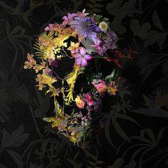 Spring Skull Hand & Bath Towel by Ali Gulec - Hand Towel Crane, Skull Shower Curtain, Acrylic Box, Clear Acrylic, Skull Hand, Skull Illustration, Skull Artwork, Skull Tattoos, Cute Stickers