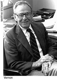 Dr. Raymond Vernon (1913 – 1999) was Professor Emeritus at the Kennedy School of Government and especially known for his Product Life Cycle Theory. Read more http://www.toolshero.com/raymond-vernon/