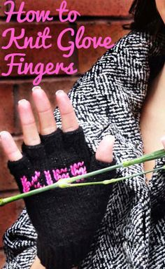 How to Knit Glove Fingers Video Tutorial - Knitting is Awesome