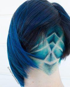 WEBSTA @ angela_skullptures - Loved doing this undercut design ❤ . Creative Hairstyles, Cool Hairstyles, Designs Undercut, Hair Inspo, Hair Inspiration, Inspo Cheveux, Shaved Hair Designs, Edgy Hair, Hair Tattoos